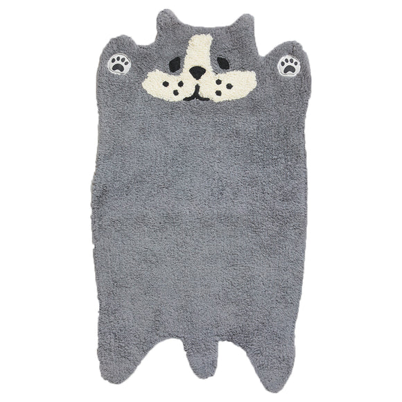 GUDAGUDA Cat Face Floor Mat (Black)