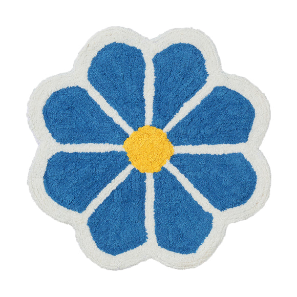 FIORE Blue Flower Floor Mat