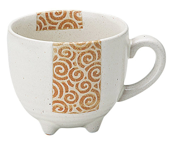 White Glazed Four-legged Mug