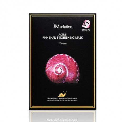 Active Pink Snail Brightening Mask (Prime) - 10 Sheets Per Box