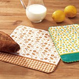Pear Shaped Wood Tray + MARCHE Gauze Handkerchief Towel (Bakery)