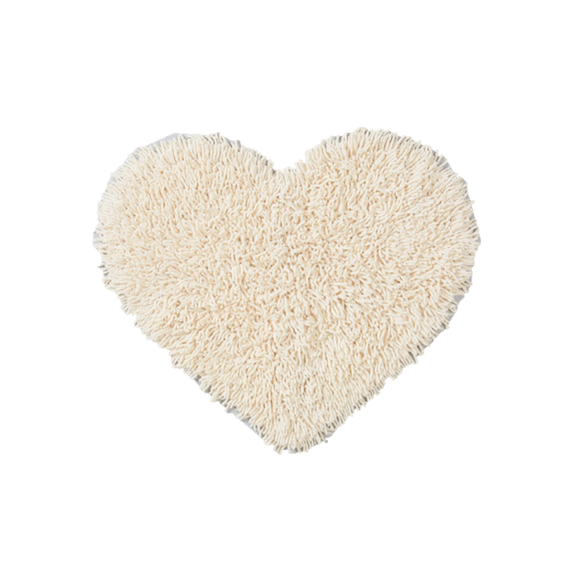 CUORE Heart-Shaped Floor Mat (White)