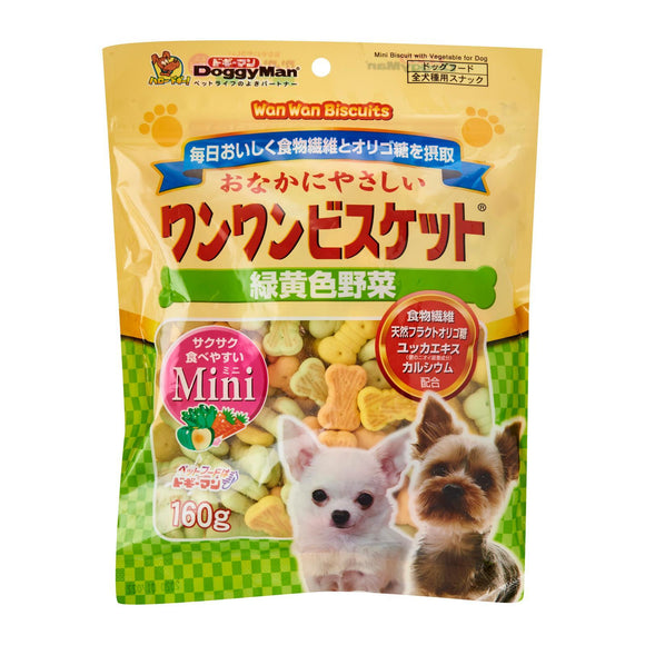 DoggyMan WanWan Mini Biscuits with Vegetable (160g)