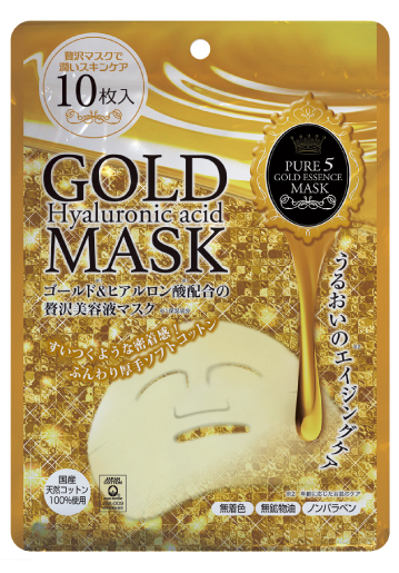 Pure 5 Gold Essence Hyaluronic Acid Mask - 10 Sheets