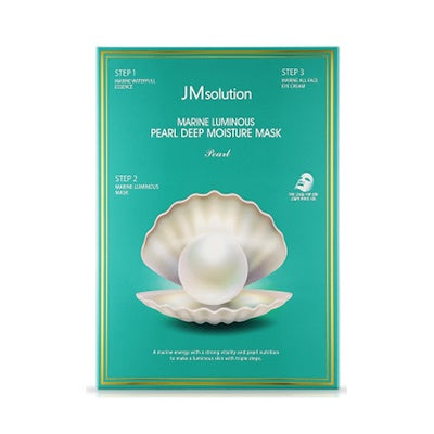 JM Solution Marine Luminous Pearl Deep Moisture Mask - 10 Sheets Per Box
