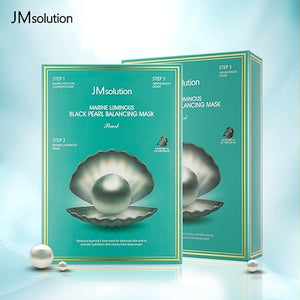 JM solution Marine Black Pearl Balancing Face Mask - 10 Sheets Per Box