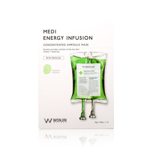 Medi Energy Infusion Concentrated Ampoule Mask - 10 Sheets Per Box