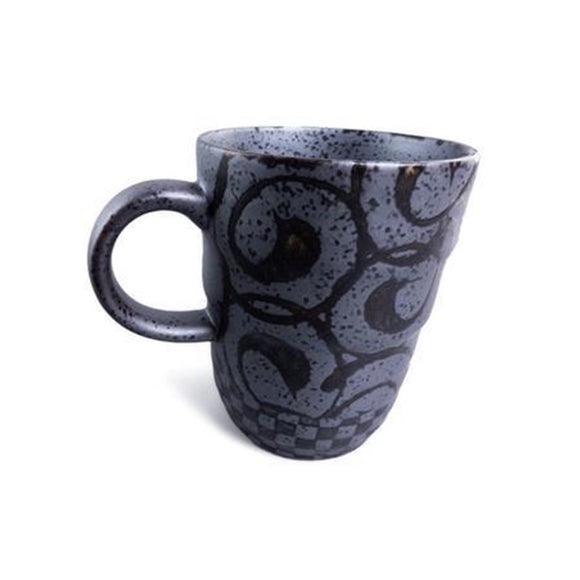 Black Swirl Japanese Mug
