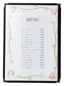5 Pieces / 10 Pieces of High Quality Menu Slot In Holder (Transparent) P53-42
