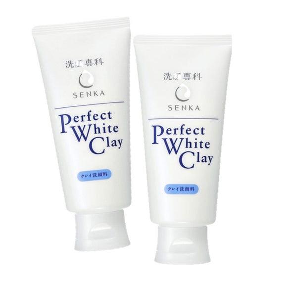 2 x Senka Perfect White Clay Facial Cleanser 120g