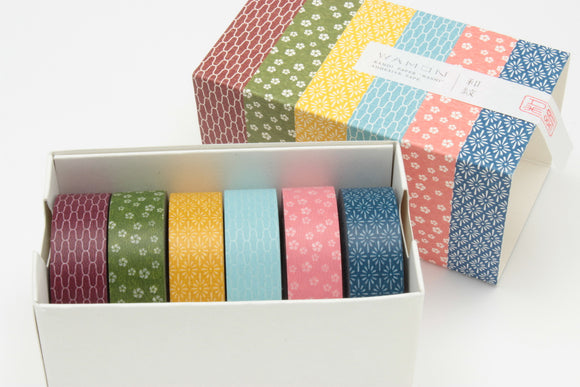MT Kamon Wamon Japanese Pattern Washi Tape Set