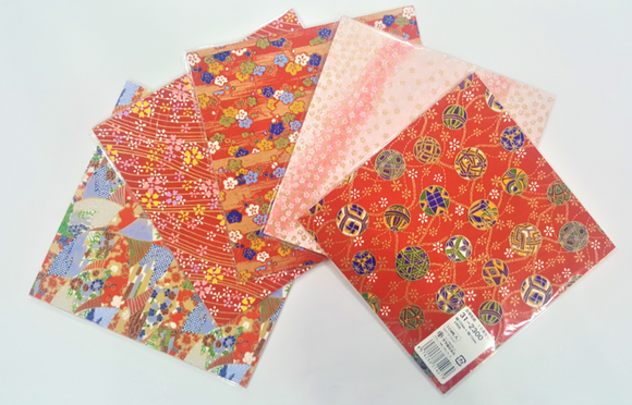 Yuzen Japanese Paper 15cm x 15cm (5 Packets of Assorted Patterns)