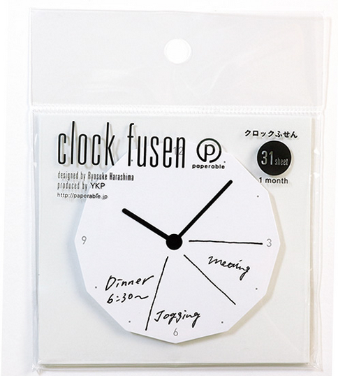 PAPERABLE 1 Packet of 1 Clock Face Sticky Note