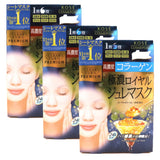 3 x Kose Cosmeport Clear Turn Premium Firming Royal Jelly Gel Mask