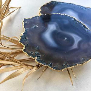 Agate Coasters Blue set of 2