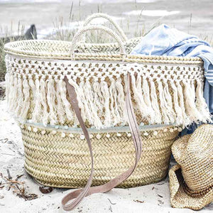 Bohemian Straw Beach Bag XL - Premium quality - Seeya - Seeyacollection