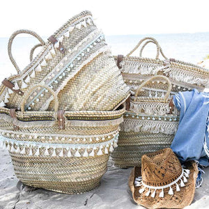 Bohemian Straw Beach Bag XL - Premium quality - Lulu - Seeyacollection
