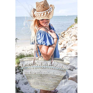 Bohemian Straw Beach Bag XL - Premium quality - Bibi - Seeyacollection