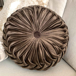 Coffee Round Velvet Cushion - Seeyacollection