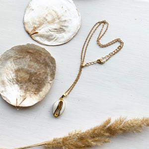24k Gold Plated Cowrie Shell Necklace - Seeyacollection