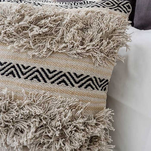 Boho Cushion Cover with Shaggy Lines 50x50 - Seeyacollection