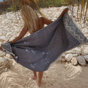 Turkish Hammam Beach Towel Peshtemals Jeans - Seeyacollection