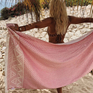 Turkish Hammam Beach Towel Peshtemals Pink - Seeyacollection