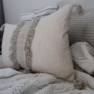Tassel Cushion Cover Linen 60x40 - Seeyacollection