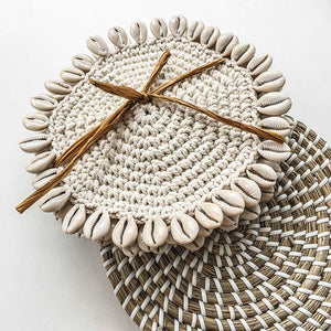 Macrame Coasters - set of 4 - Seeyacollection