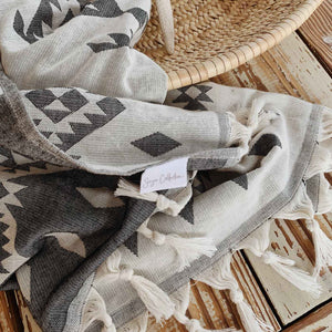 Turkish Hammam Towel Peshtemals Grey - Seeyacollection
