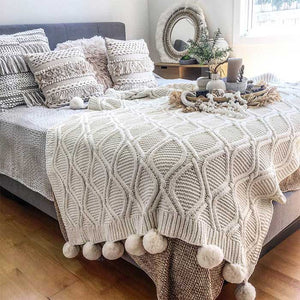 Pom Pom Blanket Luxe and Ultra Soft