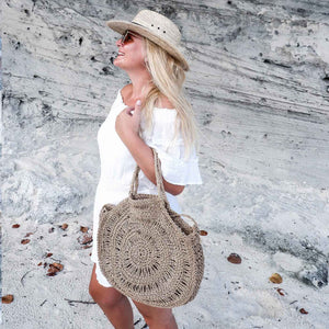 Large Raffia Crochet Bag Sissie - Seeyacollection