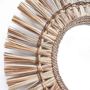 Raffia Mirror Full Moon - Seeyacollection