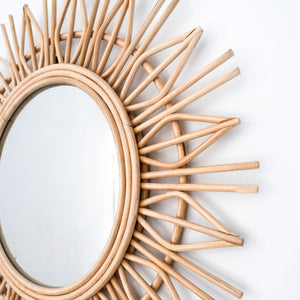 Rattan Mirror Boho Decorative - Seeyacollection