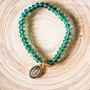 Beaded Bracelet Emerald Green - Seeyacollection