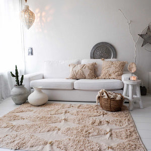 Shag Rug Creme Soft with Glitter - Seeyacollection