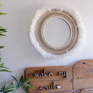 Round Shell Boho Mirror - Large - Seeyacollection