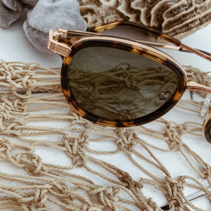 Polarized Gold Tortoise Women Sunglasses DejaVu - Seeyacollection