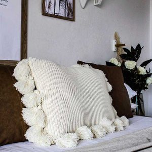 Tassel Cushion Cover Cotton 60x40 - Seeyacollection