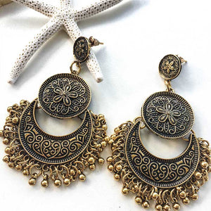 Bohemia Vintage Drop Earrings Bronze - Seeyacollection