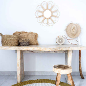 Rattan Mirror Flower - Seeyacollection