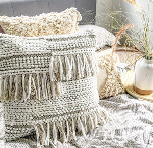 Boho Cushion Cover Luxe with Tassels and Fringe 50x50 - Seeyacollection