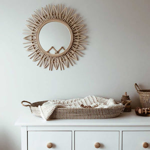 Rattan Mirror Rhombus - Seeyacollection