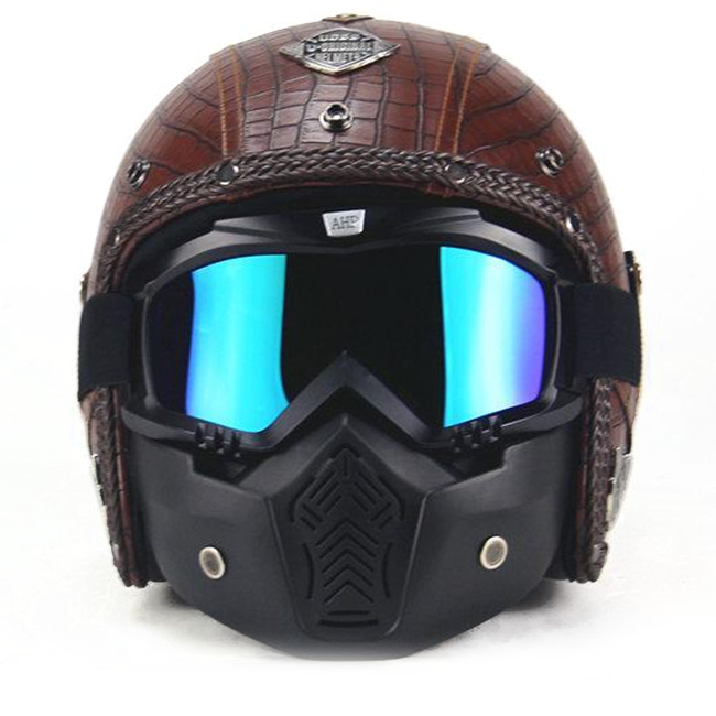 Scorpion Helmet - Plaid Brown
