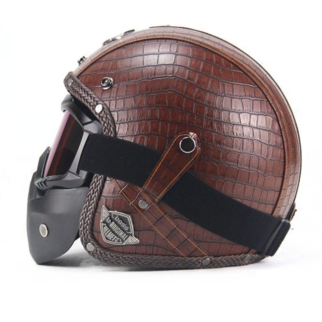 Scorpion Helmet Plaid Brown