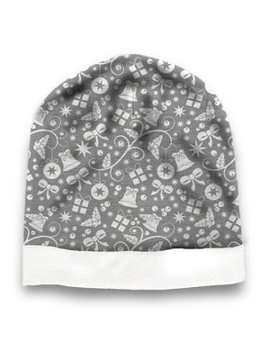 Grey christmas hat
