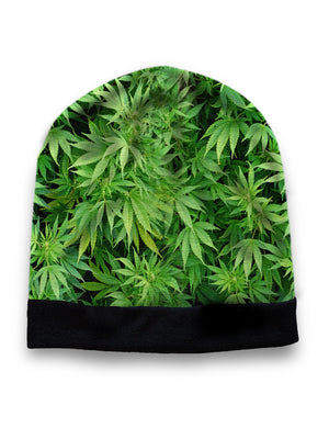Green weed hat