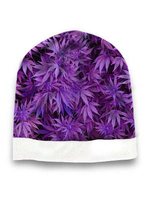 Purple weed hat