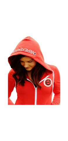 Womens Zip Up Red Hoodie