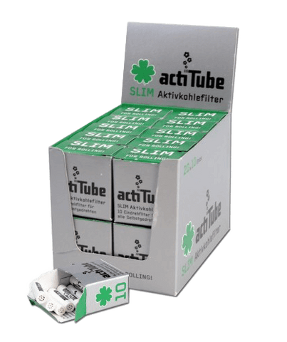 Activated 'Actitube' Carbon Filter Slim - Pack of 10 - Puff Puff Palace